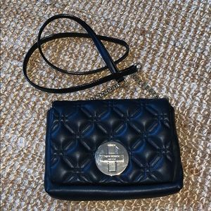 Quilted black leather Kate Spade crossbody bag